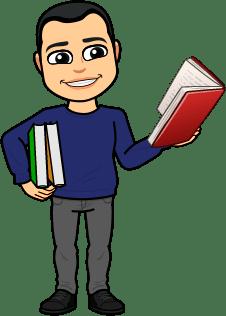 BitmoJohn book reading in hand
