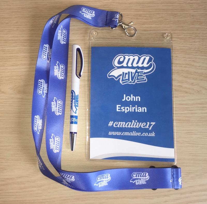 CMA Live 2017 John Espirian's badge
