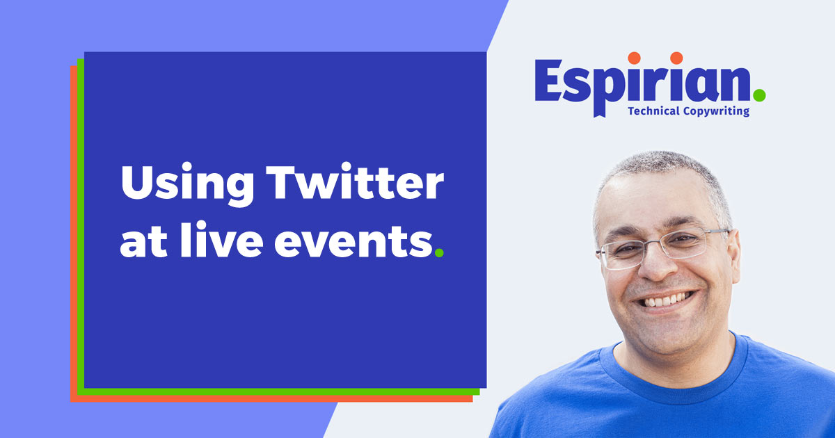 How to tweet at live events