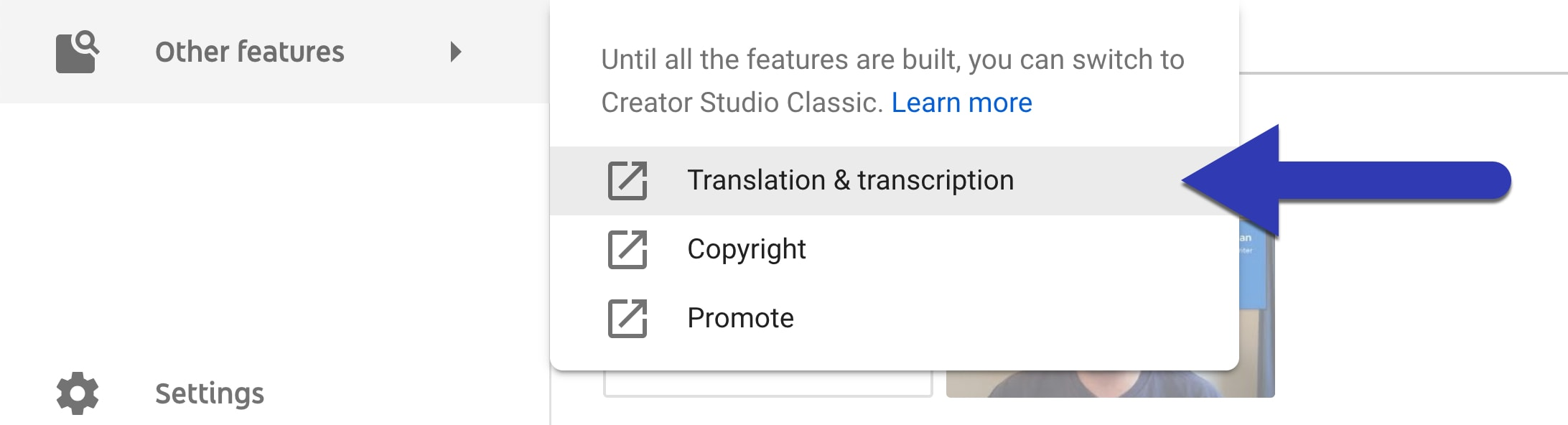 YouTube Translation & transcription option